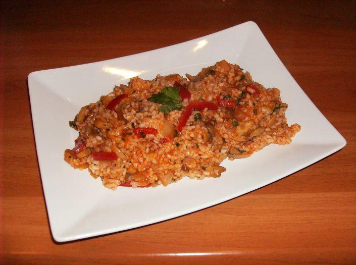Pilaf de orez cu ciuperci 025