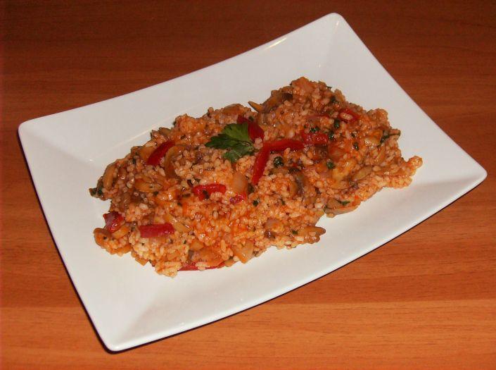 Pilaf de orez cu ciuperci 036