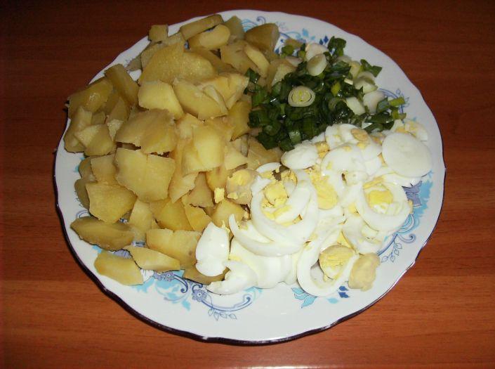 Salata de cartofi cu oua 003