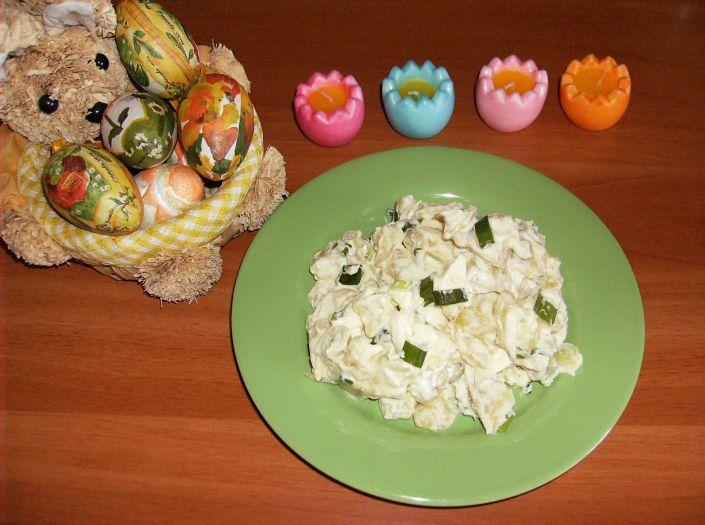 Salata de cartofi cu oua 012