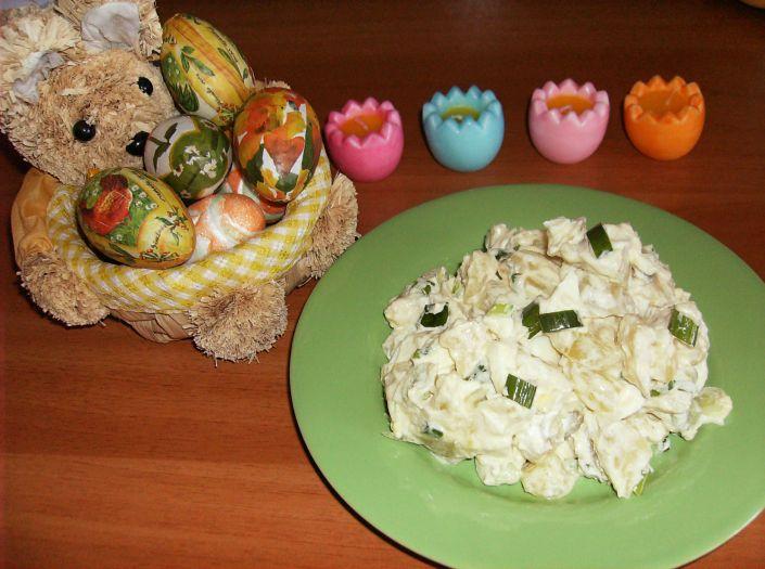 Salata de cartofi cu oua 016